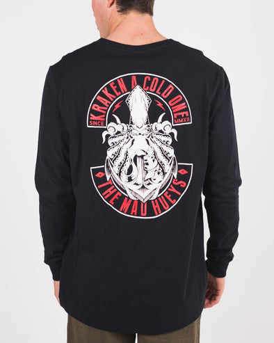 KRAKEN LONG SLEEVE TEE - BLACK