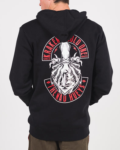 KRAKEN ZIP THRU HOOD - BLACK