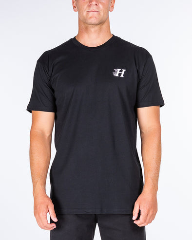 HUEYS CLASSIC SHORT SLEEVE TEE - BLACK