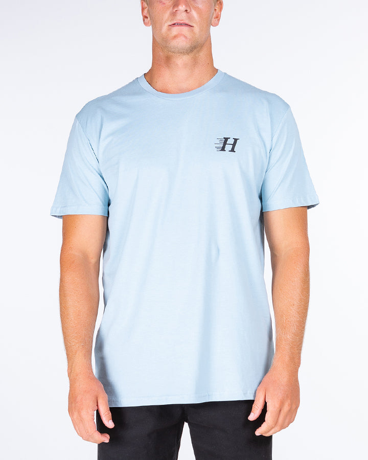 HUEYS CLASSIC SHORT SLEEVE TEE - PALE BLUE