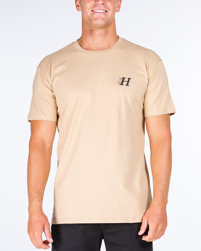 HUEYS CLASSIC SHORT SLEEVE TEE - TAN