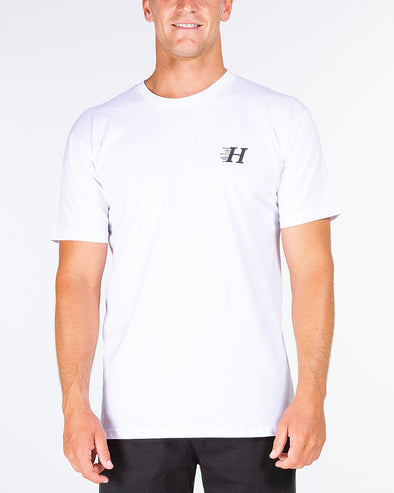 HUEYS CLASSIC SHORT SLEEVE TEE - WHITE