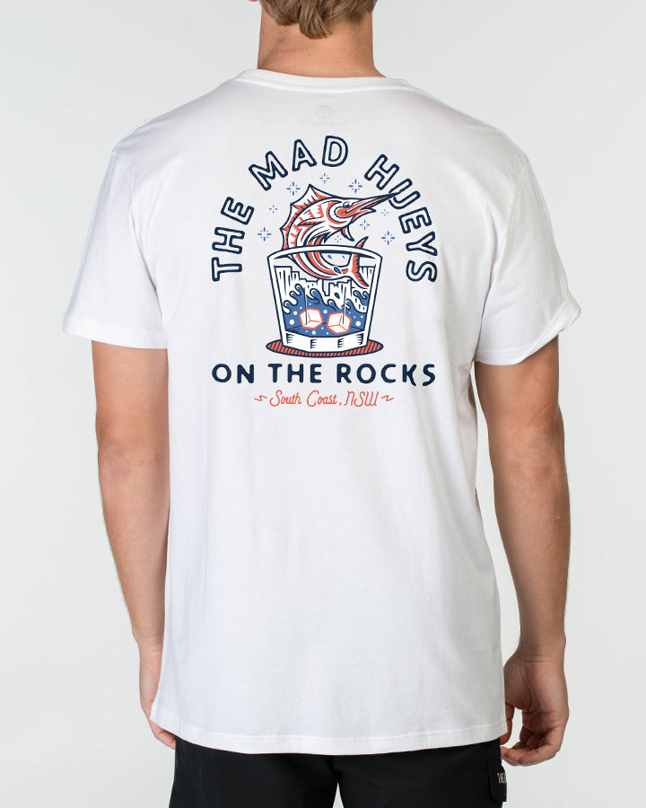 ON THE ROCKS SHORT SLEEVE TEE - WHITE