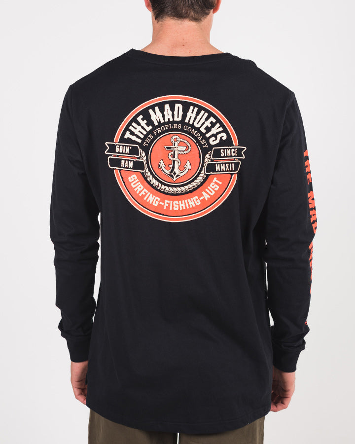 PORTSIDE LONG SLEEVE TEE - BLACK