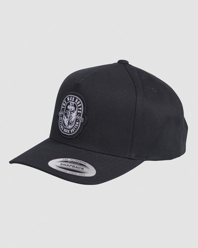 ROCK BOTTOM TWILL SNAPBACK - BLACK