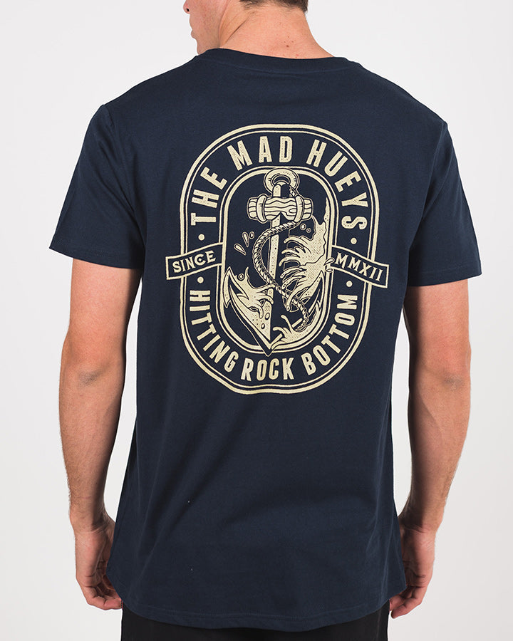 ROCK BOTTOM SHORT SLEEVE TEE - NAVY