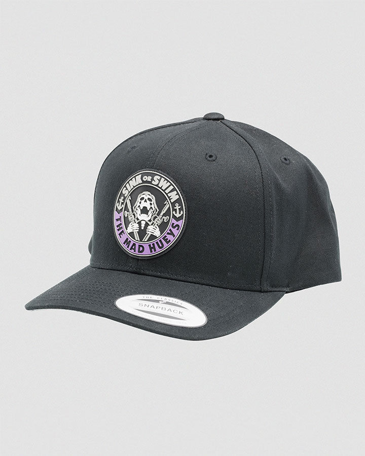 SINK OR SWIM TWILL SNAPBACK - BLACK