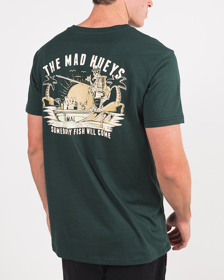 SOMEDAY SHORT SLEEVE TEE - DARK GREEN