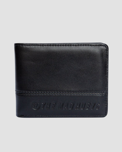 STAPLE LEATHER WALLET - BLACK