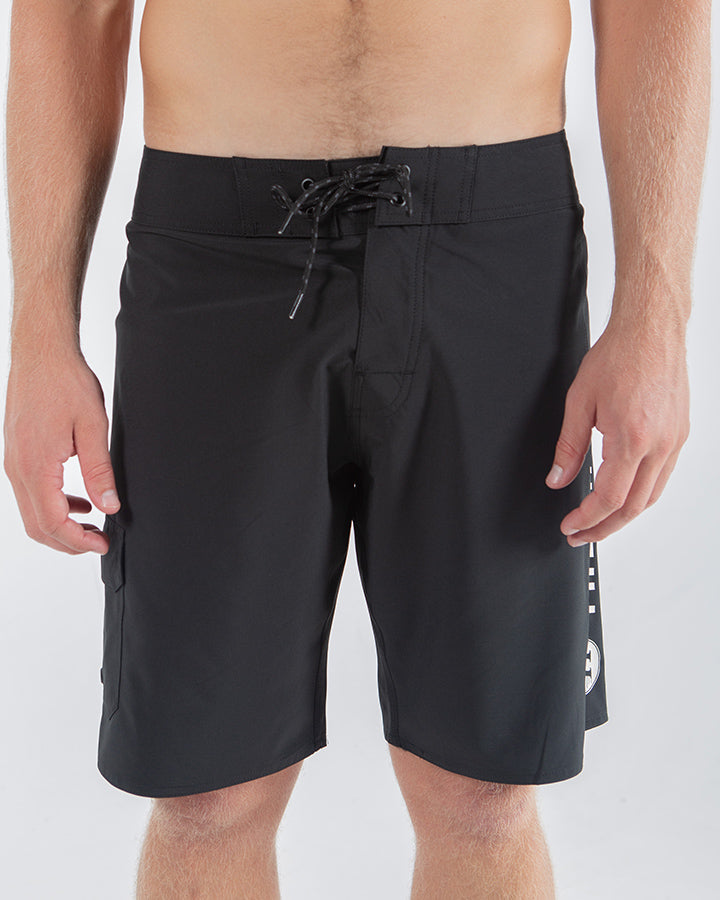 "STAPLE BOARDSHORT 19"" - BLACK"