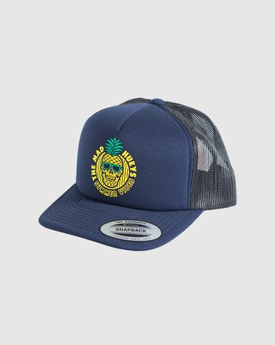 YOUTH SUMMER VIBES FOAM TRUCKER - NAVY