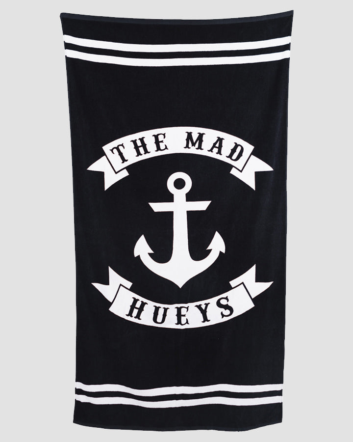 ANCHOR BEACH TOWEL - BLACK