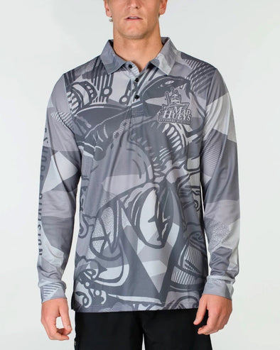 HAMMERED UV LS FISHING JERSEY - GREY