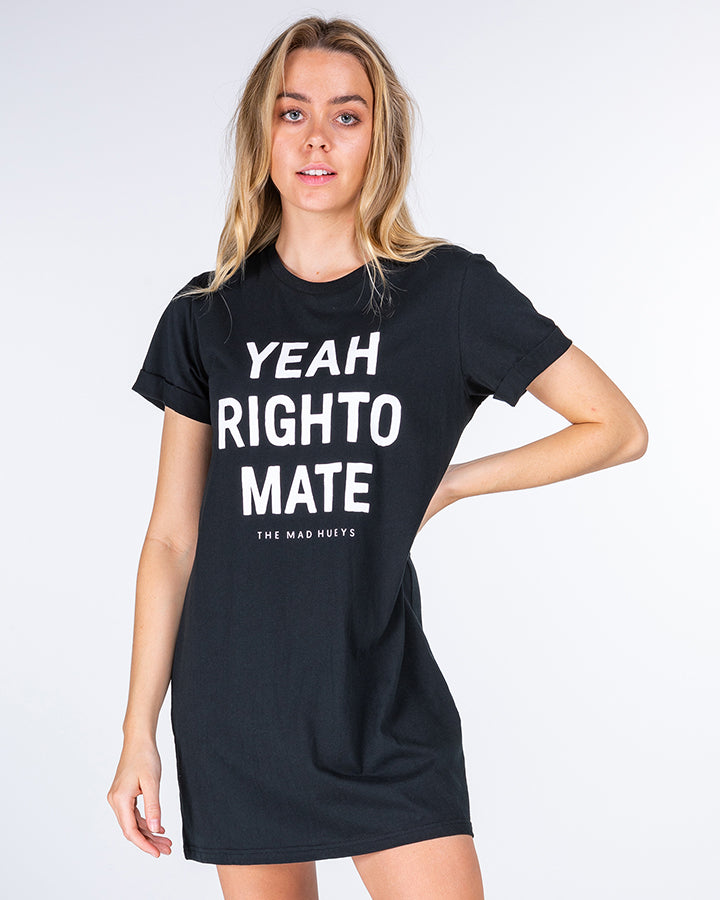 YEAH RIGHTO WOMENS TEE DRESS