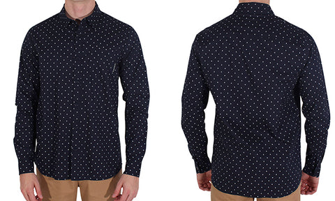 ALL NIGHT L/S COTTON SHIRT NAVY