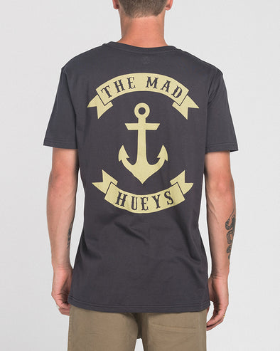 ANCHOR CASTAWAY SS TEE - ALMOST BLACK