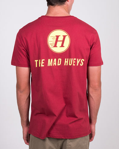 THE BASIC SS TEE - MAROON