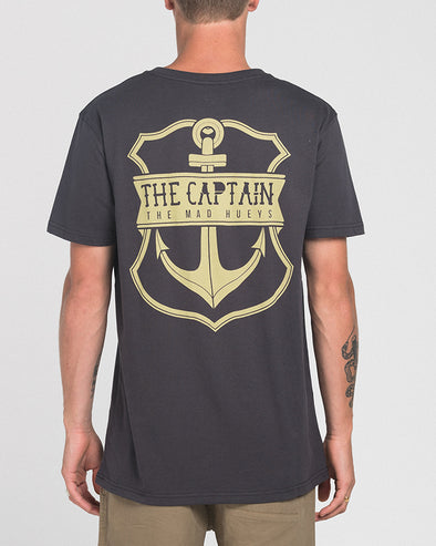 CAPTAIN CASTAWAY SS TEE - ALMOST BLACK