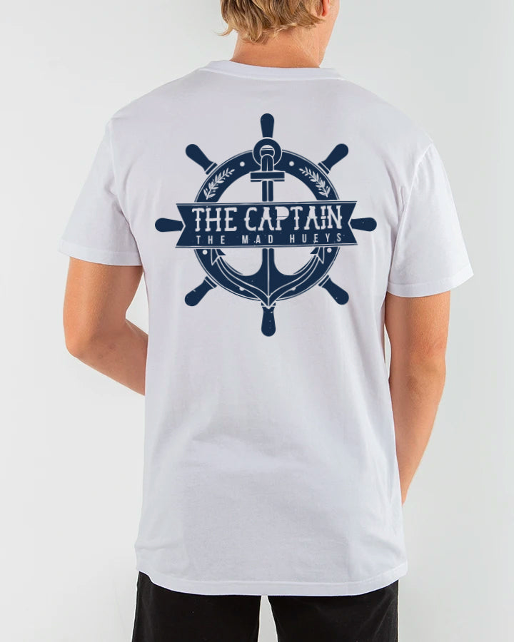 CAPTAIN WHEEL CASTAWAY SHORT SLEEVE TEE - WHITE