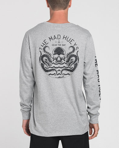 SEAS LONG SLEEVE TEE - GREY