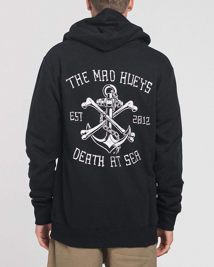 DEATH AT SEA ZIP THRU HOOD - BLACK