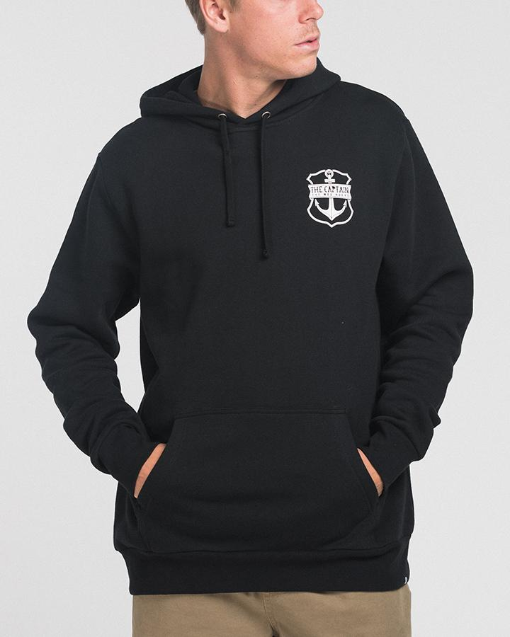 CAPTAIN PULLOVER HOOD - BLACK