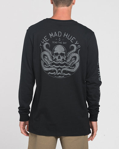 SEAS LONG SLEEVE TEE - BLACK