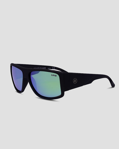 COAST GUARD SUNGLASSES - GRN MIRROR POLAR FLOAT - MATTE BLK