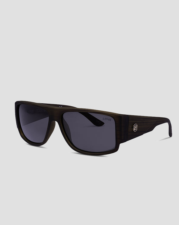 COAST GUARD SUNGLASSES - SMOKE POLAR - BROWN WOOD