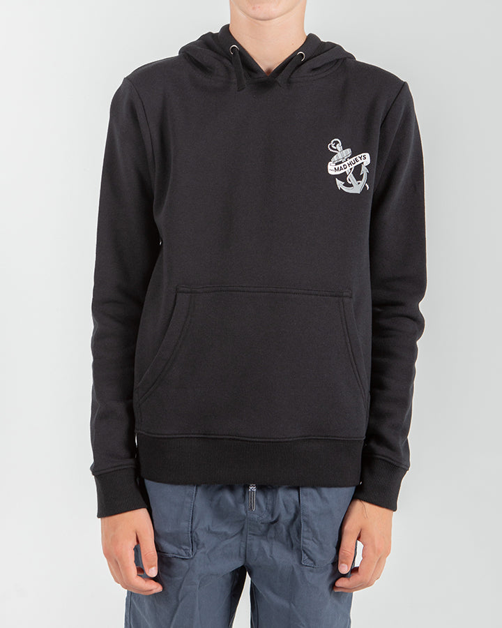 DECKHAND YOUTH PULLOVER HOOD - BLACK
