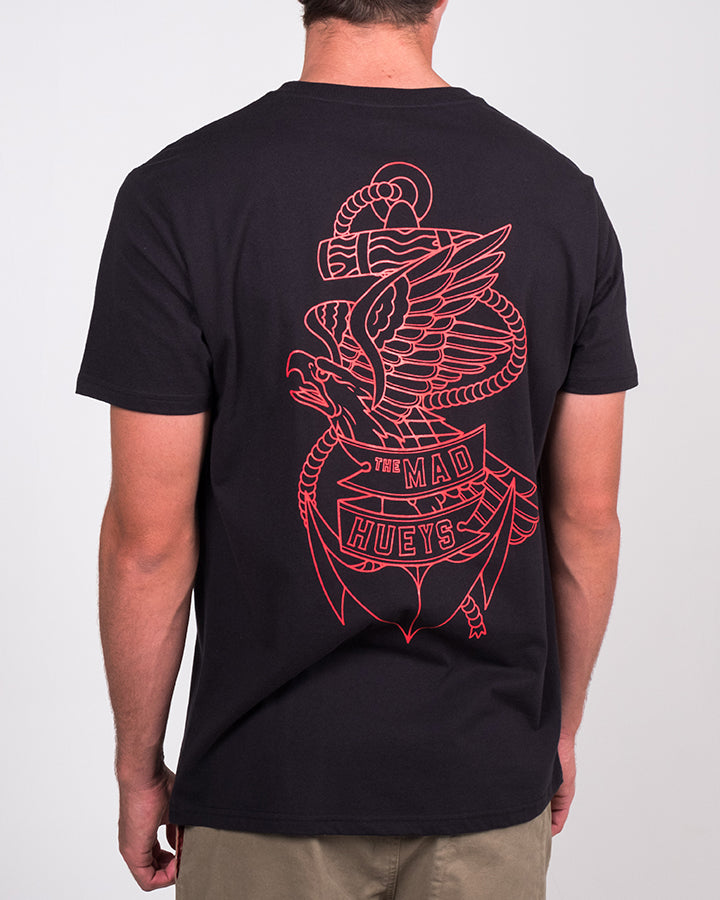 EAGLE ANCHOR SS TEE - BLACK
