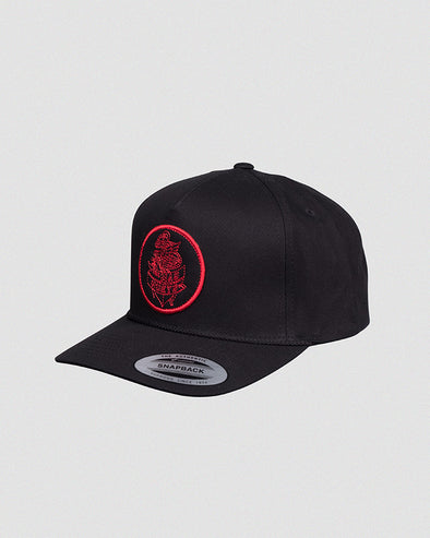 EAGLE ANCHOR TWILL SNAPBACK - BLACK