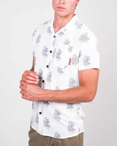 EAGLE ANCHOR SS SHIRT - WHITE