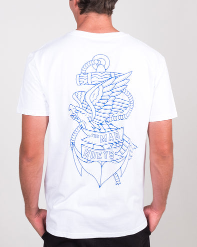 EAGLE ANCHOR SS TEE - WHITE