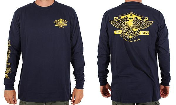 EAGLE HAS LANDED LONG SLEEVE NAVY