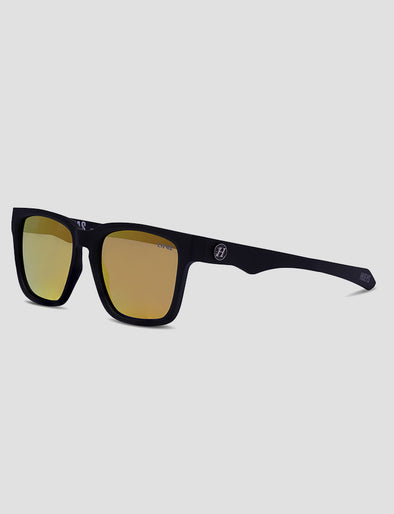 HI SEAS SUNGLASSES - ORANGE MIRROR POLAR - MATTE BLACK