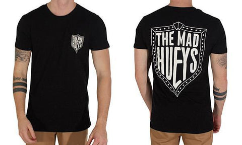 HUEYS SHIELD TEE BLACK