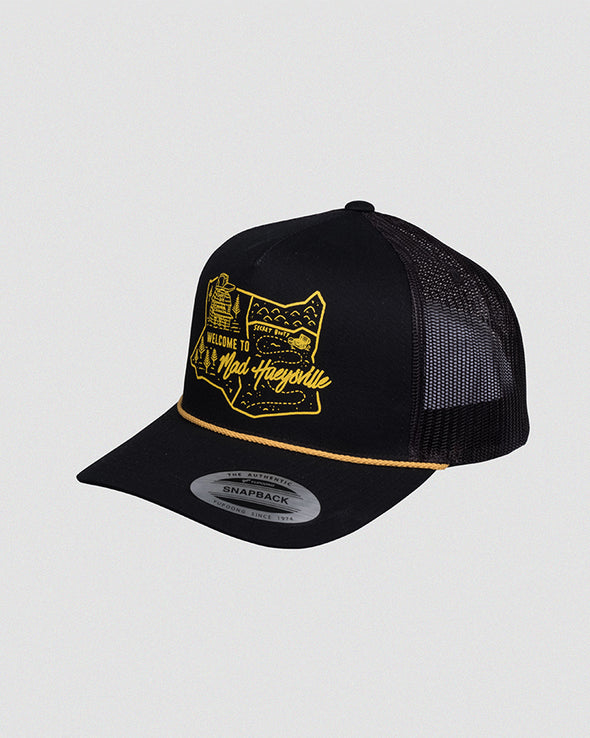 HUEYSVILLE TWILL TRUCKER - BLACK