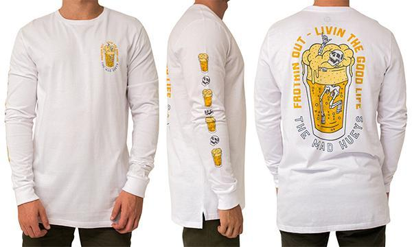 IN THE DRINK LS TEE WHITE