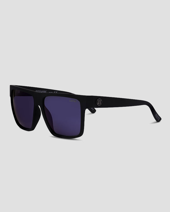 OFFSHORE SUNGLASSES - BLUE MIRROR POLAR - MATTE BLACK