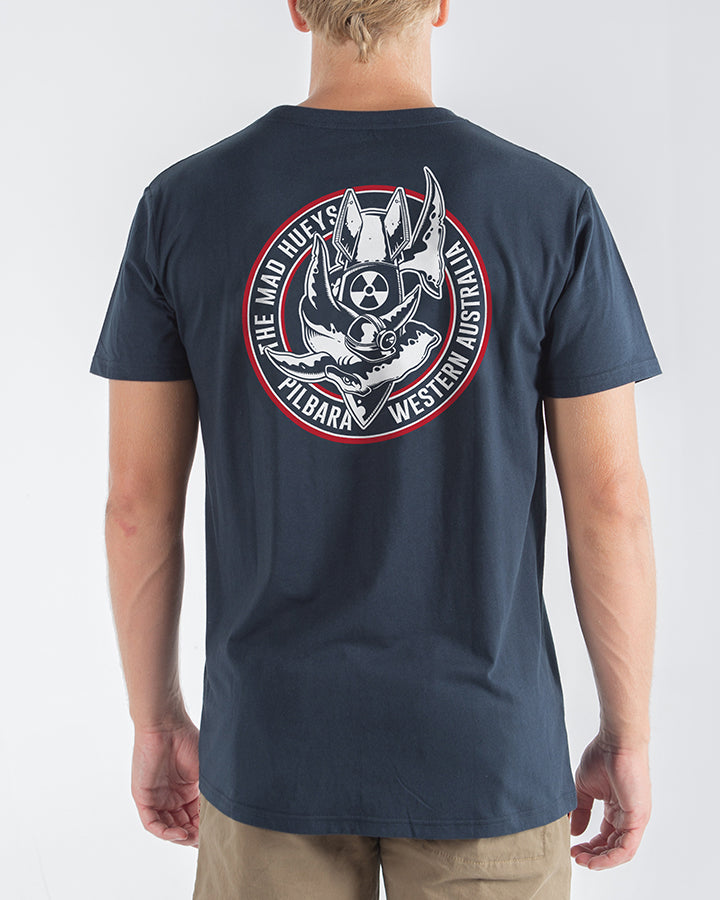 PILBARA SHORT SLEEVE TEE - NAVY
