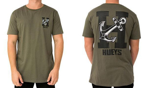 SALTY SPORT TEE ARMY GREEN