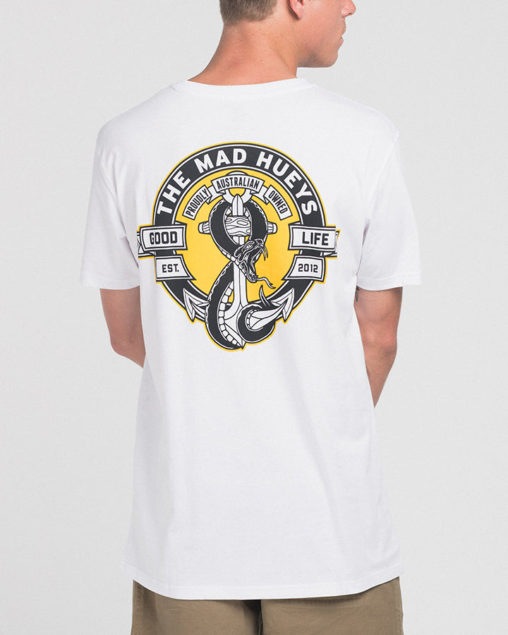 SNAKES AND ANCHORS SS TEE - WHITE
