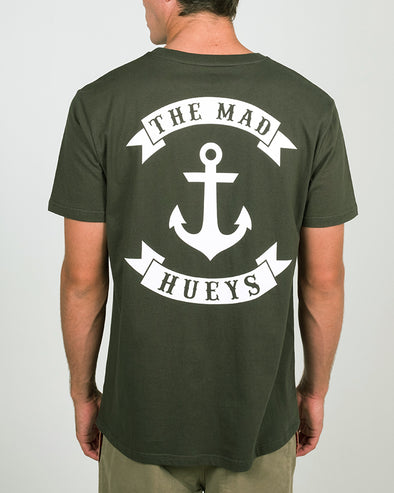 STRAYA EDITION ANCHOR SS TEE - DARK GREEN