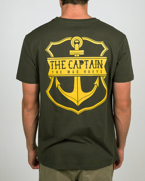 STRAYA EDITION CAPTAIN SS TEE - DARK GREEN