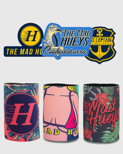 BEER COOLER AND STICKER BUNDLE - MULTI
