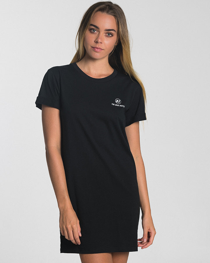 THE WOMENS BASIC TEE DRESS - BLACK