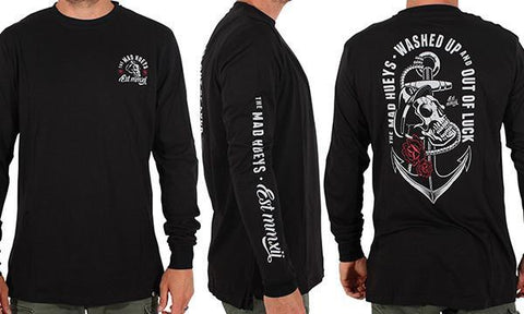 WASHED UP LONG SLEEVE BLACK