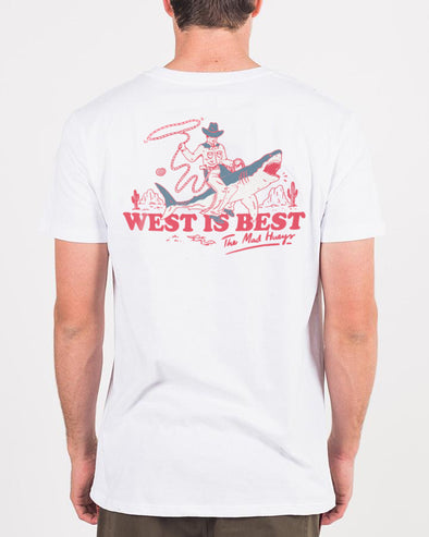 WEST IS BEST SHORT SLEEVE TEE - WHITE