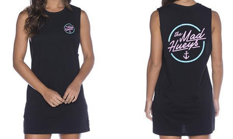 WOMENS AU CLASSICS MUSCLE DRESS BLACK